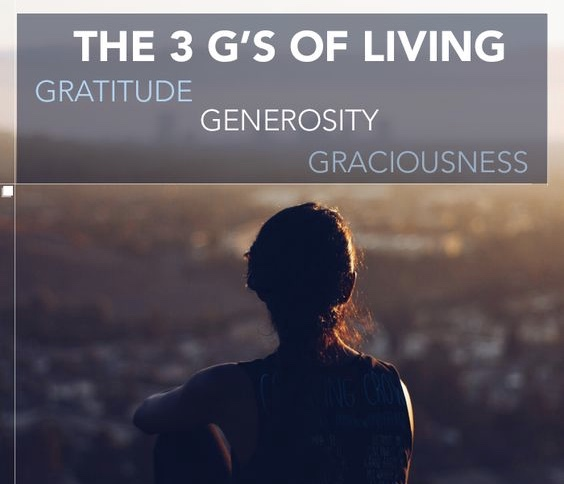 3 Gs For A Better Life : Gratitude, Graciousness and Generosity ...
